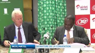 BICIG / AIRTEL : SIGNATURE DE LA CONVENTION
