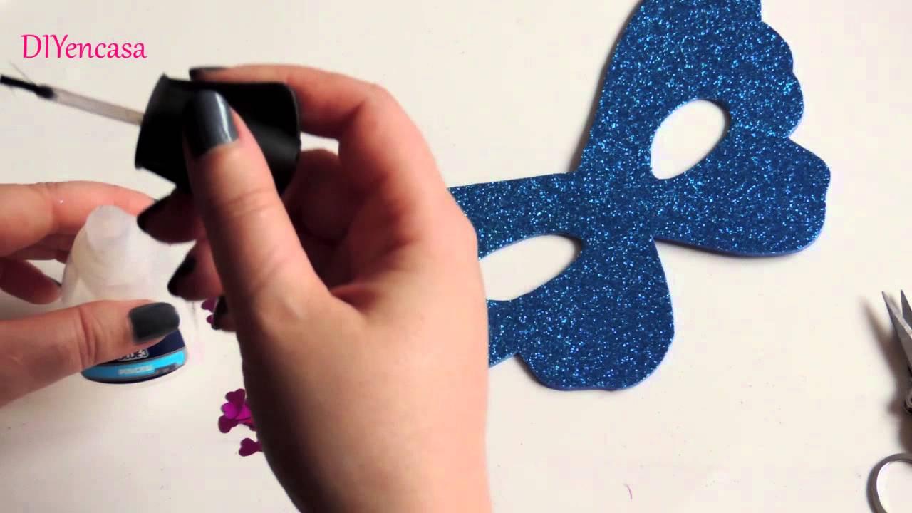 Diy como hacer una antifaz de goma eva manualidad para - Como hacer una manualidad ...