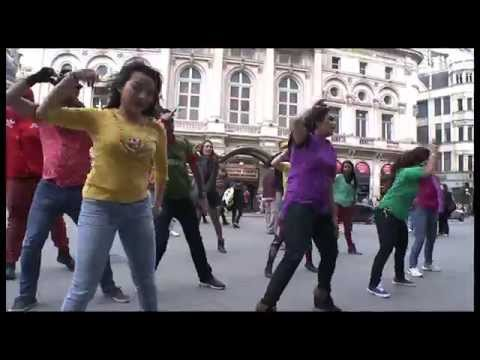 ICC T20 WORLD CUP 2014 BANGLADESH FLASH MOB LONDON UK