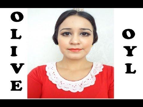 How To Olive Oyl Tutorial Popeyes Wife Costume Halloween YouTube