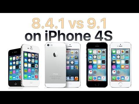 iPhone 4S iOS 9.1 vs iOS 8.4.1