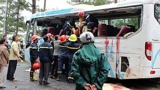 Tai nạn ở đèo PRENN Đà Lạt kinh hoàng hai xe khách tông nhau 7 người chết