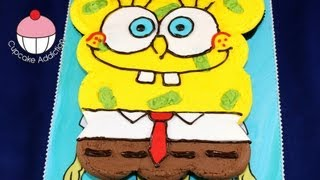 Spongebob Cupcake Cake! How to make a Spongebob Pullapart Cupcakes Cake by Cupcake Addiction