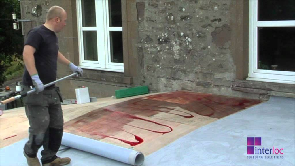 Installation Of Flat Roof Single Ply Youtube