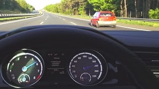 VW GOLF 7 R Onboard Driver View Acceleration Autobahn 260