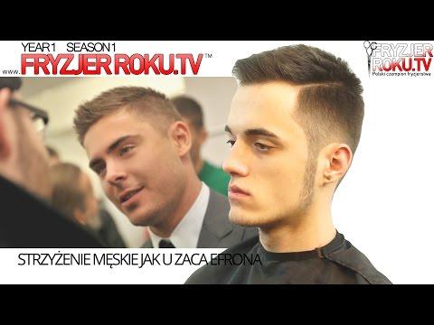 Strzyżenie męskie jak u Zaca Efrona. Zac Efron haircut FryzjerRoku.tv