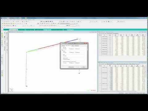 STAAD.Pro V8i Basics (Part 4 - Video) Structural Analysis