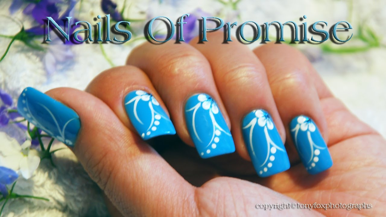 The Captivating Blue acrylic nail designs Image