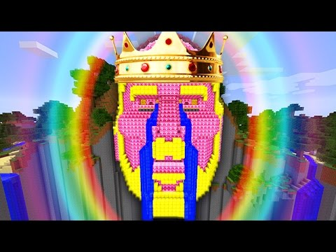 LUCKY PINK BLOCKS KING TEMPLE OF NOTCH LAND MOD CHALLENGE - MINECRAFT MODDED MINI-GAME!