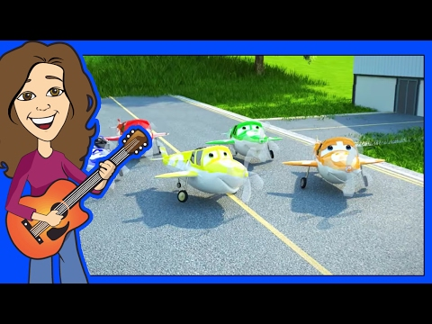 Countdown Song 5 Little Airplanes Animated Cartoon Children's song by Patty Shukla