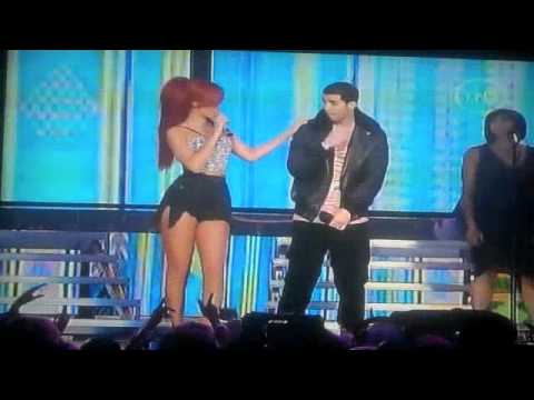 Rihanna, Drake, and Kanye West Haftime Show NBA All Star Game 2011