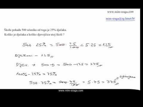postotci Matematika 7 , zbirka potpuno riješenih zadataka za sedmi razred