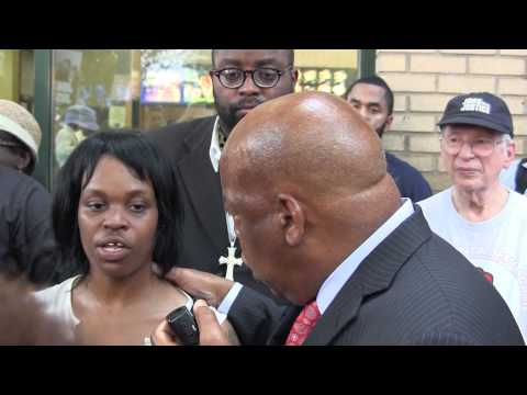 Rep. John Lewis at 8/29 Fast Food Worker Strike in Atlanta