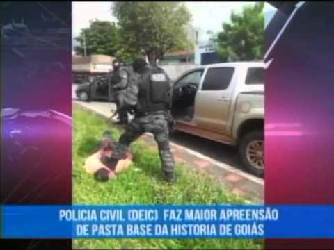 A Polícia Civil DEIC fez a maior apreensão de pasta base de cocaina da história de Goiás