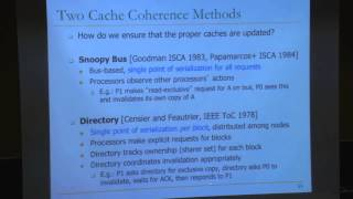 Carnegie Mellon - Computer Architecture 2013 - Onur Mutlu - Lecture 31 - Consistency & Coherence