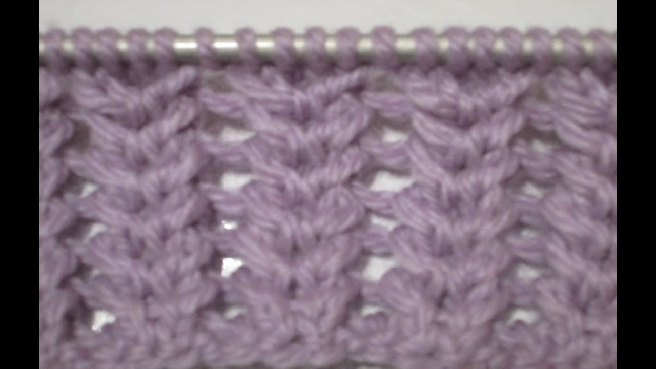 Tuto tricot apprendre a tricoter le point clusaz point de tricot fantaisie facile - Point de sable tricot ...