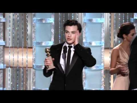 Chris Colfer wins Golden Globe 2011 HD