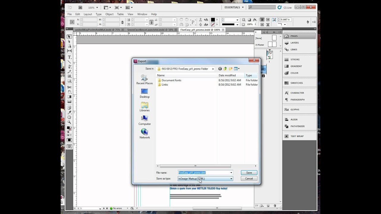 how to export an indesign file to pdf