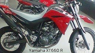 YAMAHA XT 660R 2014 VERMELHA E BRANCA Designe E Detalhes