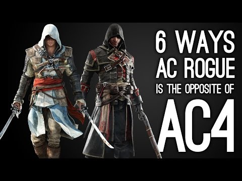 6 Ways AC Rogue is the Opposite of AC4 Black Flag - Assassin's Creed Rogue Gameplay