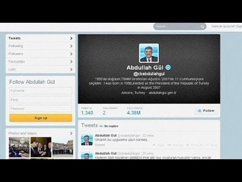 Turkish president takes to Twitter to criticise ban on social media site