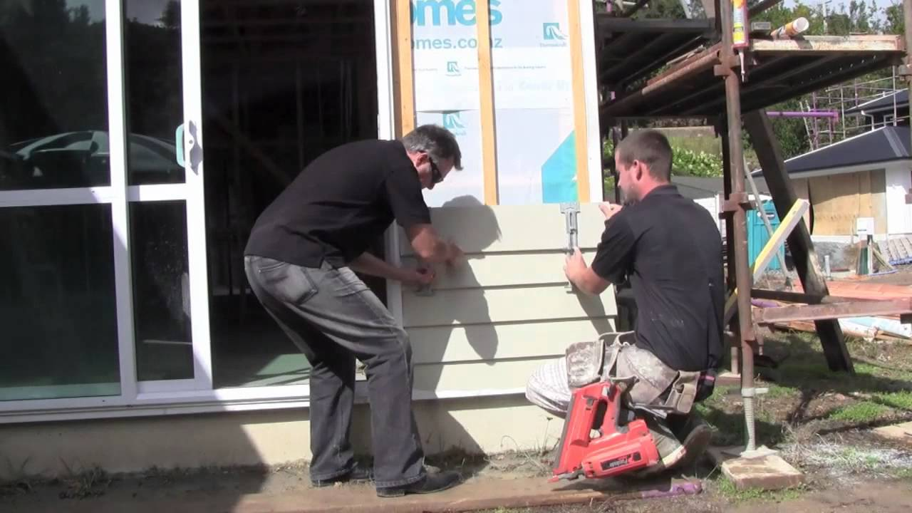 Ezy Build Products Installing Weatherboard Siding Youtube