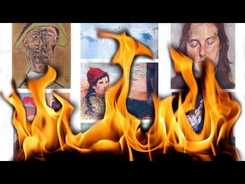 Burning art: thief's mother torches multimillion-dollar masterpieces