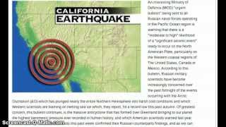 Russia Warns Of Big Earthquake To Hit California West