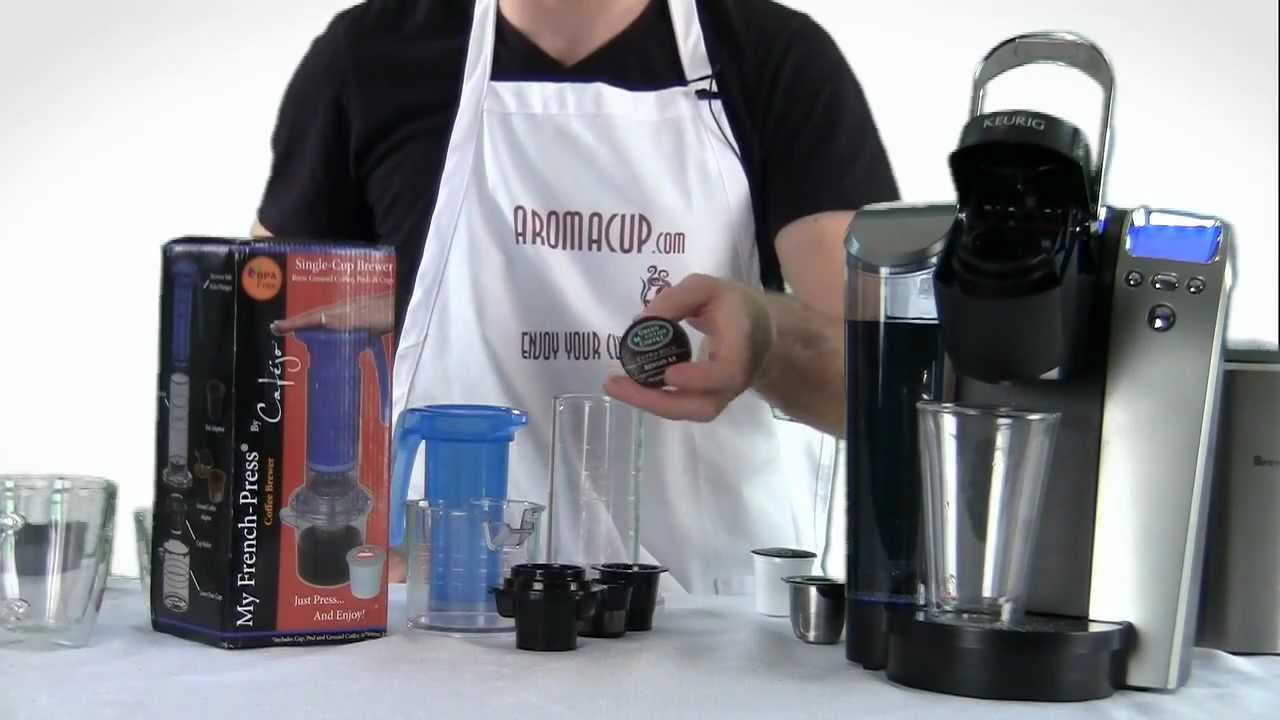 Non K Cup Coffee Maker : Keurig K-Cup Brewer vs My French-Press (non electric K-Cup coffee maker) - YouTube
