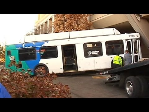 Bus Crashes Into Power Facility