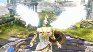 Super Smash Bros 4 New Character Trailer Palutena