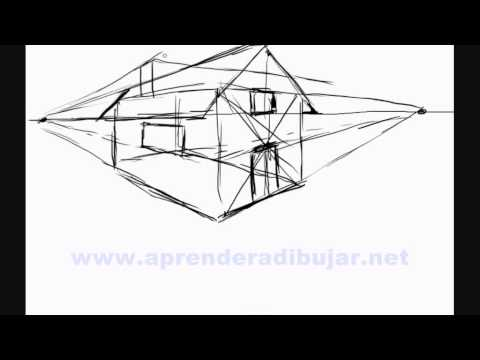 Dessin de maison en perspective - Comment Dessiner - YouTube