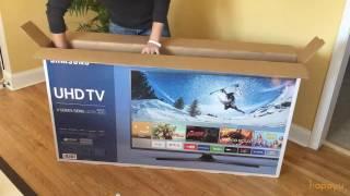 """Samsung 55"""" 4K Smart LED TV Unboxing - UN55KU6270FXZA/UN55KU6300FXZA"""