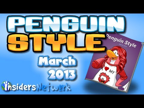 Club Penguin: March 2013 Clothing Catalog Cheats