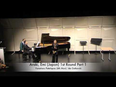 Araki, Emi (Japon) 1st Round Part 1