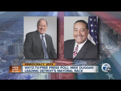 WXYZ-TV/Free Press poll: Mike Duggan leading Detroit's mayoral race