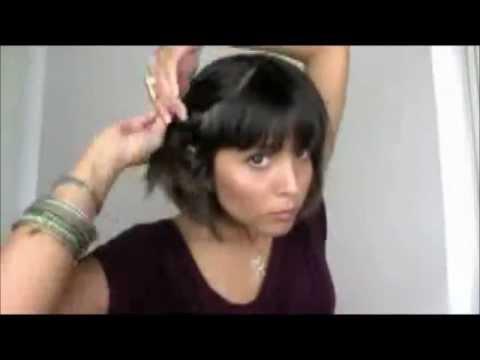 Madeixas Curtas - penteados facil de fazer