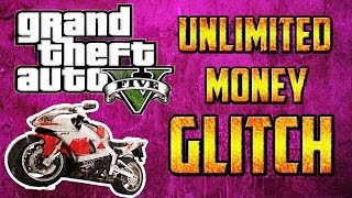 "GTA 5 Online: Unlimited Money Glitch / Unlimited Cash Glitch - Bike Method ( ""GTA 5 Glitches "")"
