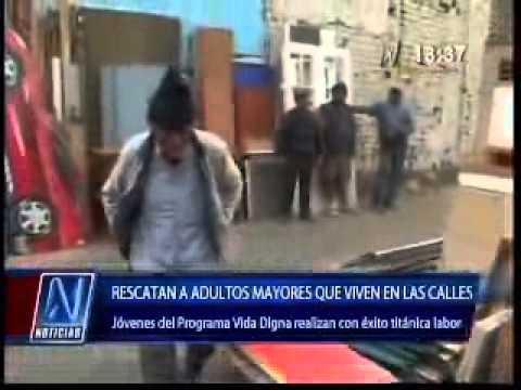 Rescatan adultos mayores que viven en las calles (N Noticias- Canal 8)