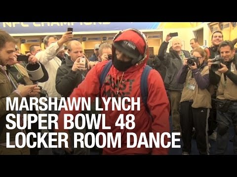 Marshawn Lynch Super Bowl 48 Locker Room Dance (Full)