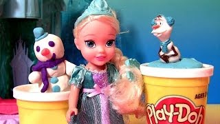 Disney Frozen Young Elsa Toddler Dolls 2014 PlayDoh Winter