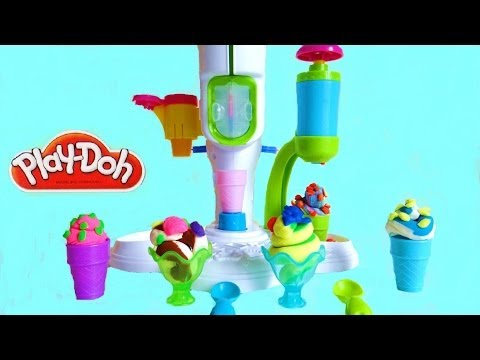 Play-Doh Sweet Shoppe Perfect Twist Ice Cream Playset Unboxing
