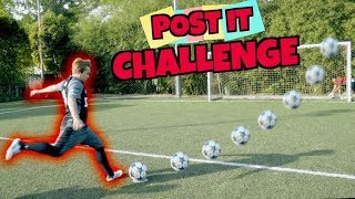 Post it football challenge