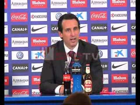 Rueda de prensa de Unai Emery, At.Madrid. Sevilla FC