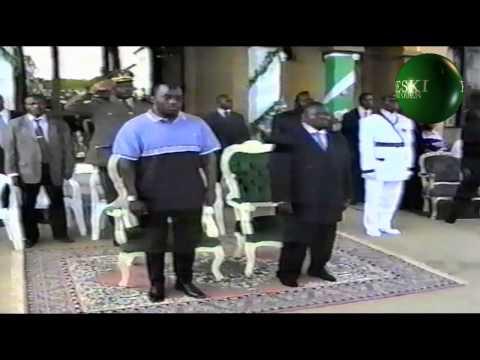 Pt 1 VISITE MARS 2003 DE PRESIDENT DE LA RDC JOSEPH KABILA A NKAMBA PAPA SKK  PAPA MATONDO MANGANI