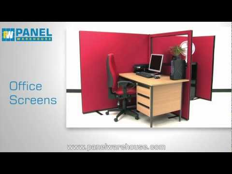 Office Screen 1000mm w x 1200mm h Nyloop Fabric