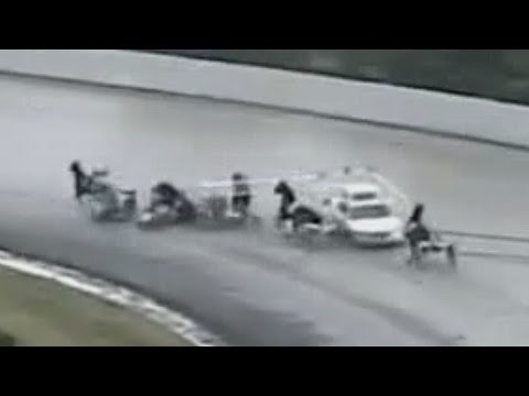 Gate Car Crashes. Horse Racing Accident Freehold Raceway
