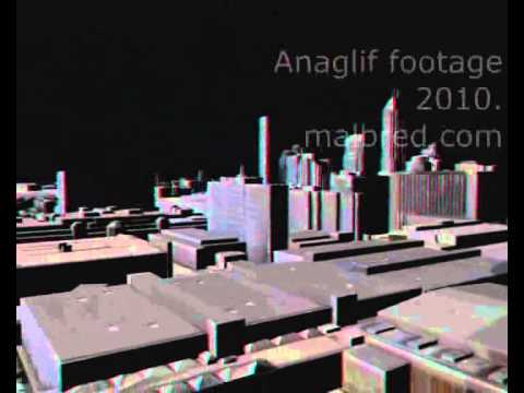 Anaglif footage