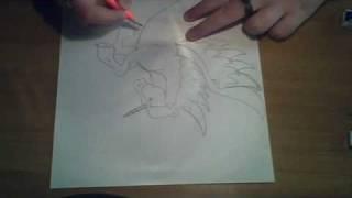 Disegnare Un Magnifico Unicorno Alato In Poco Più Di 3
