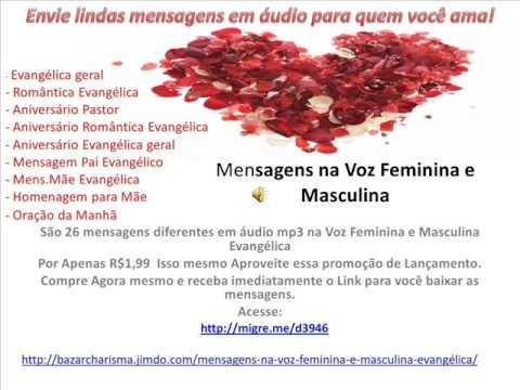 Mensagem na Voz Feminina e Masculina Evangélica